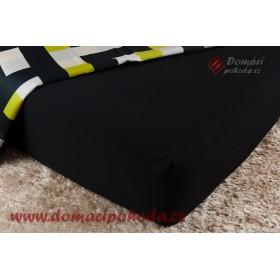 Jersey prostěradlo DP 90/100x200 - černé