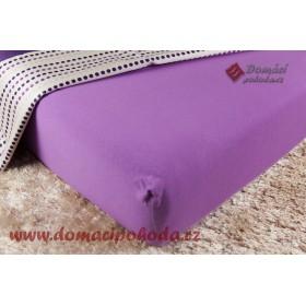 Jersey prostěradlo DP 180x200 - středně fialové
