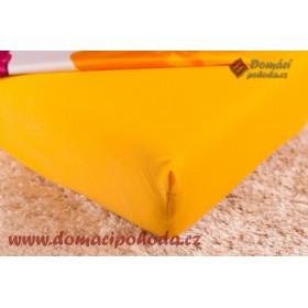 Jersey prostěradlo DP 180x200 - sytě žluté