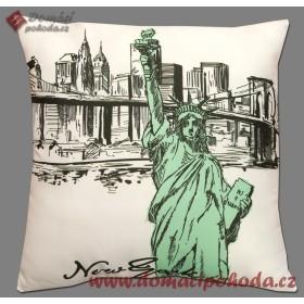 Polštářek New York Art - 40x40 cm s výplní