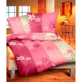 Krepové obliečky Zahrada růžová - 140x200, 70x90