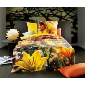 Makosaténové obliečky Fleur-de-lis sonne 140x200, 70x90