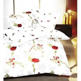 Bavlněné obliečky Ballade bílé, 140x200, 70x90
