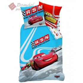Obliečky Cars RSN Blue - 140x200, 63x63 cm