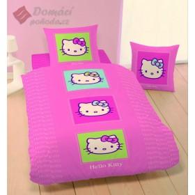 Obliečky Hello Kitty Post it - 140x200, 63x63, 100% bavlna