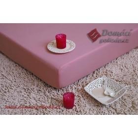 Jersey nepropustné a prodyšné prostěradlo s polyuretanem 70x160 - světle růžové