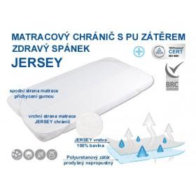 Jersey matracový chránič s PU- nepropustný a prodyšný 60x120 cm