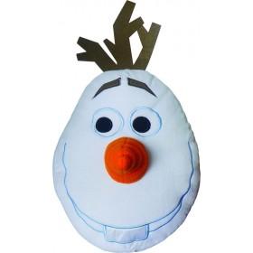 Plyšový 3D polštářek Disney Frozen OLAF - 36x36 cm s výplní