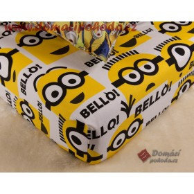 Prostěradlo Minions, Mimoni Team - 90x190/200 cm, 100% bavlna