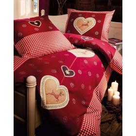 Flanelové obliečky Alpenpracht červené 140x200, 70x90