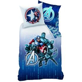Povlečení Avengers Blue Code - 140x200, 70x90, 100% bavlna