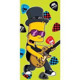 Osuška Bart Simpson guitar 2015 JF  - 75x150 cm, 100% bavlna