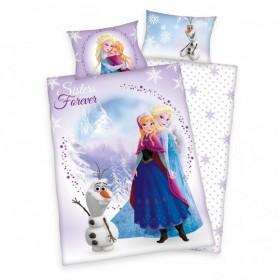 Flanelové povlečení do postýlky Frozen/Ledové království - 100x135, 40x60, 100% bavlna