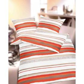 Krepové povlečení Elements orange, 140x200, 70x90
