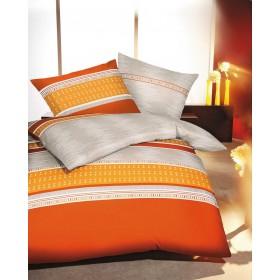 Obliečky Mako satén Shuttle orange, 140x200, 70x90