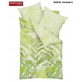 Prodloužené makosaténové obliečky Palm Springs kiwi - 140x220, 70x90