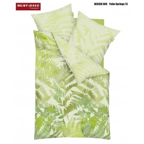 Prodloužené makosaténové povlečení Palm Springs kiwi - 140x220, 70x90