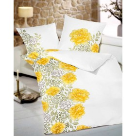Makosaténové povlečení Ladylike žluté, 140x200, 70x90