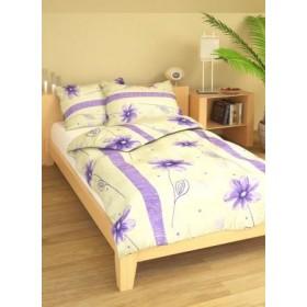 Prodloužené obliečky Anežka fialová - 140x220, 70x90, 100% bavlna