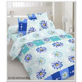 Povlečení Nikol modrá - 140x200, 70x90, 100% bavlna