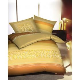 Prodloužené makosaténové obliečky Ivy žluté, 140x220, 70x90