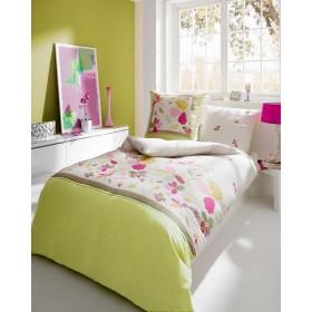 Makosaténové obliečky Carina zelenkavá, 140x200, 70x90