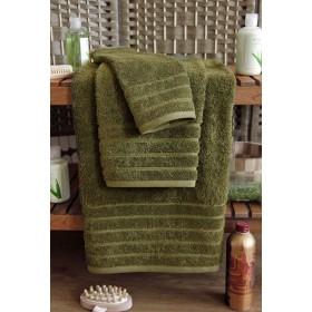 Kvalitní osuška Elegant 70x140 cm - vysoká gramáž 630 g/m2 - zelená khaki