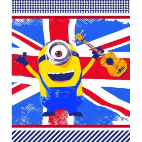 Fleecová deka Mimoni FR 01 vlajka - 125x150 cm