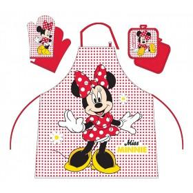 Minnie Mouse - Kuchyňský set (zástěra, chňapka, podložka) - 100% bavlna