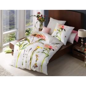 Makosaténové obliečky Botanical rosa - 140x200, 70x90