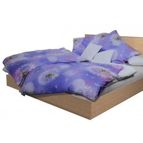 Povlečení Pampeliška fialová 140x200, 70x90, 100% bavlna
