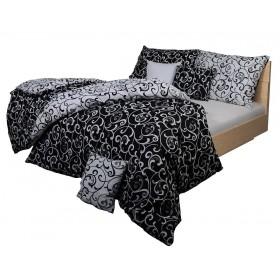 Obliečky Ornament černo-bílý 140x200, 70x90, 100% bavlna
