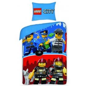 Povlečení LEGO City - 140x200, 70x90, 100% bavlna