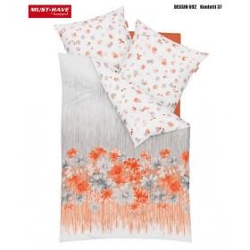 Makosaténové obliečky Konfetti lososové - 140x200, 70x90