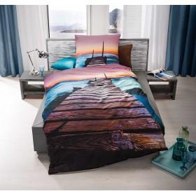 Makosaténové obliečky Ibiza aqua - 140x200, 70x90