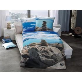 Makosaténové obliečky Lake Tepako aqua - 140x200, 70x90