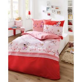 Bavlněné obliečky do malé postýlky Miss Butterfly červené, 100x135, 40x60