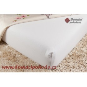 Jersey prostěradlo DP 120x200 - bílé (01)