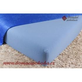 Jersey prostěradlo DP 120x200 - středně modré (25)