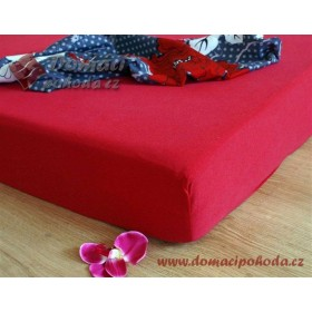 Jersey prostěradlo DP 200x220 - červené (14)
