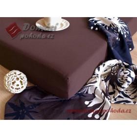Jersey prostěradlo DP 120x200 - čokoládově hnědé (18)