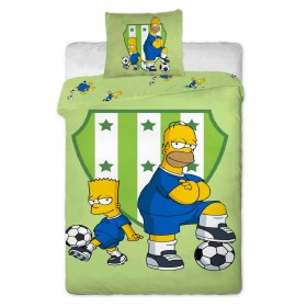 Povlečení Bart a Homer green 2016 - 140x200, 70x90, 100% bavlna