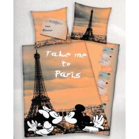 Povlečení Mickey a Minnie Paris 4478205 - 140x200, 70x90