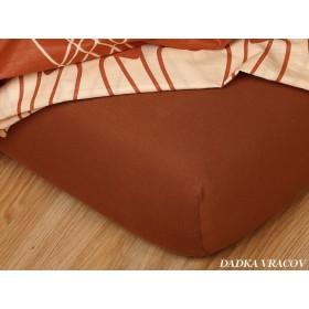 Jerseyové prostěradlo s vysokou gramáží 185 g/m2, rozměr 90x220 PRODLOUŽENÉ, nugát