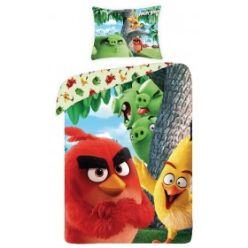 Obliečky Angry Birds Movie Red -  140x200, 70x90, 100% bavlna