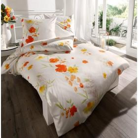 Bavlněné obliečky Lilou oranžové, 140x200, 70x90