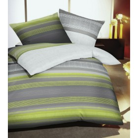 Bavlněné povlečení Profile zelené, 140x200, 70x90
