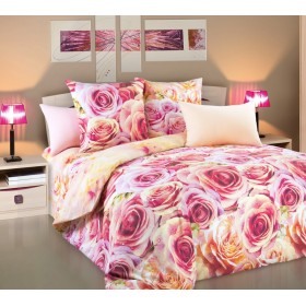 Povlečení Romance 220x200, 2x70x90 framcie - 100% bavlna - perkal
