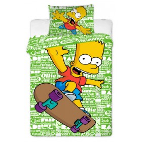 Povlečení Bart Simpson green 2016 - 140x200, 70x90, 100% bavlna
