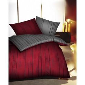 Makosaténové obliečky Fading rubínové, 140x200, 70x90